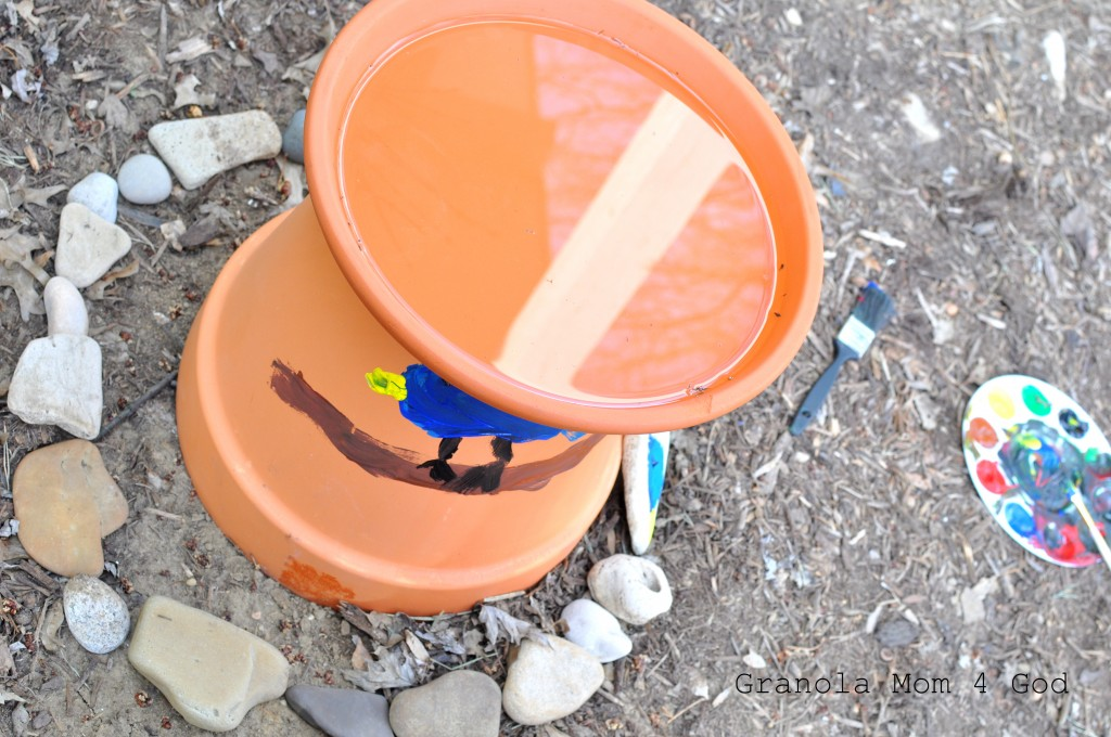 Apologia World bird bath project
